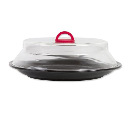 Catamount CG1301-R Catamount Glass Microwave Plate Cover, 10.5, Red by Catamount
