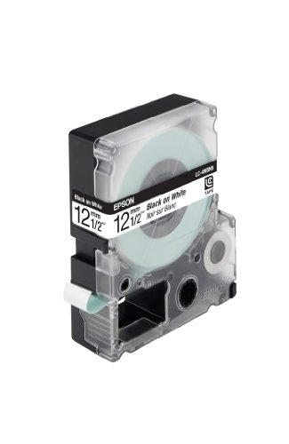 EPSON Schriftband LC4WBN9 schwarz auf weiss 12mm fuer Label Works 900P, LW300,LW400 - Epson Farbband Kassette