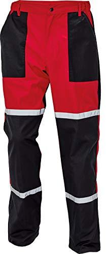 DINOZAVR Tayra Impermeabile Pantaloni da Lavoro da Uomo Resistenti all'olio per Meccanici - Rosso EU58