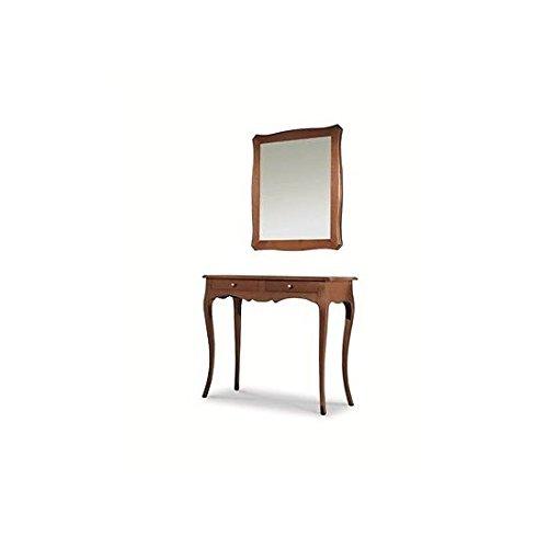 Estea mobili - mobile tavolo consolle in legno con specchiera arte povera - 537 538