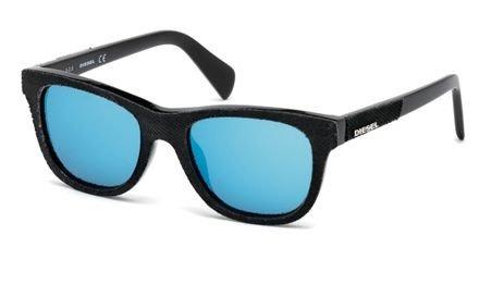 Occhiali da sole Diesel DL0200 C48 01X (shiny black / blu mirror)