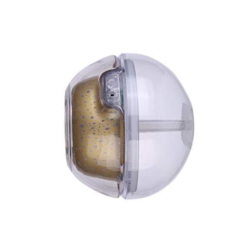 fish 500 ml de Aire humidificador USB de Escritorio del difusor del Aroma Noche de Cristal lámpara del proyector Fabricante de la Niebla Ministerio del Interior LED