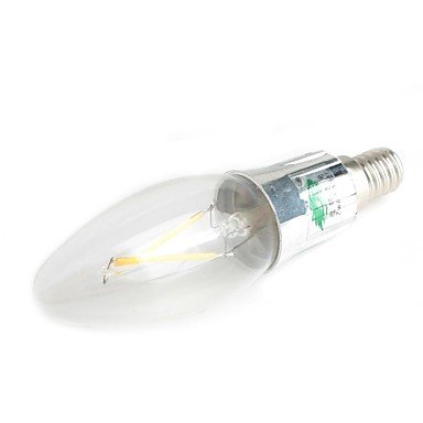 FDH E14 Luces de velas LED C35 2 180-200 lm decorativo blanco cálido 220-240 V CA
