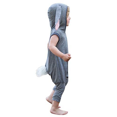 MRURIC❀ Baby Outfit Set Kleinkind-KinderBabyjunge ärmelloses Häschen-Ostern-Spielanzug-Overall-Kleidung Strampler Outfit Kleidung Sets Bodysuit Siamesische Playsuit Weste Jumpsuit