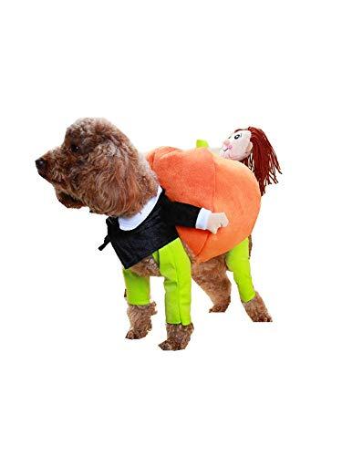 Pet-Holding-Kürbis-Kleidung S Hund Katze Jacket Dress Up Hoodies Lustige Kostüm-Haustier-Kürbis Outfit