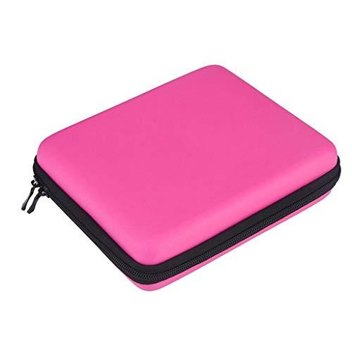 Diadia Hartschalen-Schutzhülle für Nintendo 2DS, mit Reißverschluss hot pink
