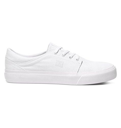 DC Shoes Trase TX - Shoes - Baskets - Homme - US 4.5 / UK 3.5 / EU 36.5 - Blanc