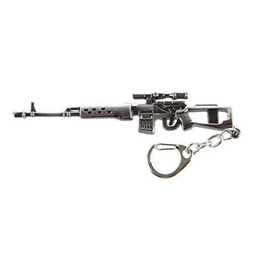 Mini Dragunov Sniper Gun modello a sospensione Hook Lobster portachiavi grigio A