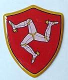3D Doming Aufkleber Wappen Isle of Man (2er Set)