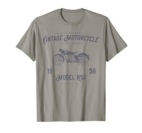 Retro Motorrad-T-Shirt, ursprünglicher Weinlese-Entwurf -