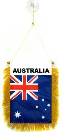 AZ FLAG Fanion Australie 15x10cm - Mini Drapeau Australien 10 x 15 cm spécial Voiture - Bannière