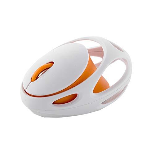 jfhrfged AX-210 2.4G Wireless Silent Charging-Maus für Notebook-Büro-Desktop-Computer (Orange)