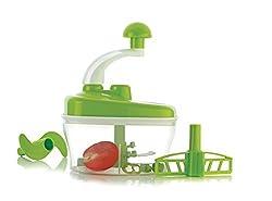 BLUE BIRDS Manual Food Processor - Chopper, Blender, Atta Maker, Dough Kneader,14 Pieces GREEN