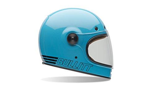 Bell Powersports Bullitt Motorradhelm, Blau (Retro Blau), L (Carbon Bell Helm)