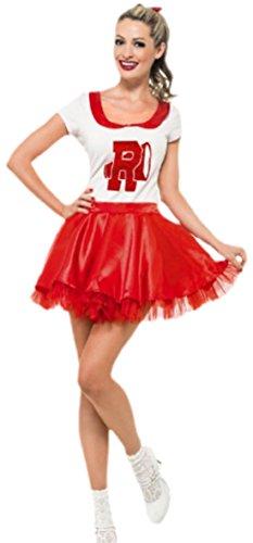 Karnevalsbud - Damen Cheerleader Dancing Kostüm, S, (Mädchen Für Einfache Halloween College Kostüme)