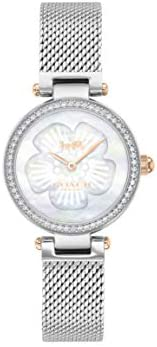 Coach WOMEN'S WHITE MOTHER OF PEARL DIAL TWO TONE STAINLESS STEEL WATCH - 1450