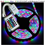 #2: Low Price Waterproof RGB Remote Control Color Changing LED Strip Light, 5 Meter