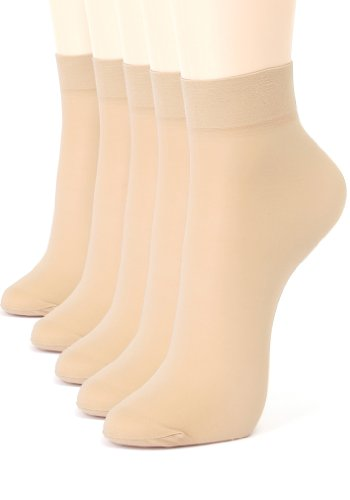 ililily 5 or 10 pairs 20D Sheer ankle high tights hosiery socks (tights-011-2)
