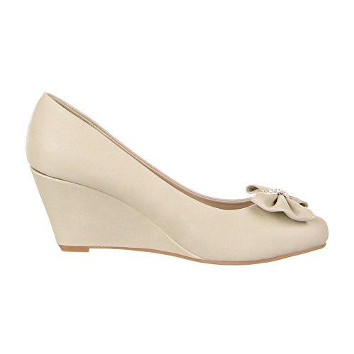 Ital-Design - Sneaker Donna Beige (beige)