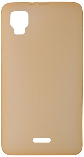 GoRogue Frosted Glowing Ultra Slim Soft Flexible TPU Back Case Cover For Micromax Canvas Doodle 3 A102 (Gold)  available at amazon for Rs.149