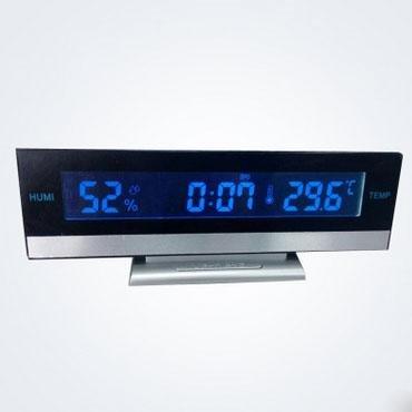 LOTOS Réveil - LED Grand Écran Température Humidité Silent Bureau Horloge électronique, 2