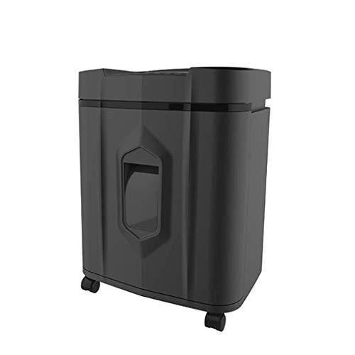 Aktenvernichter Altpapier Büroautomation Elektronische Geräte mit großer Kapazität Kommerzielle Granulatdatei Mobiler Dokumentenplastik (Color : Black, Size : 36 * 28 * 49cm)