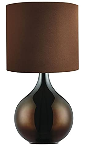 Searchlight TABLE LAMP - CHOCOLATE BROWN BASE - DRUM