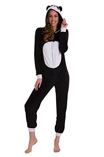 LD Outlet Damen Strampelanzug schwarz / weiß Panda -