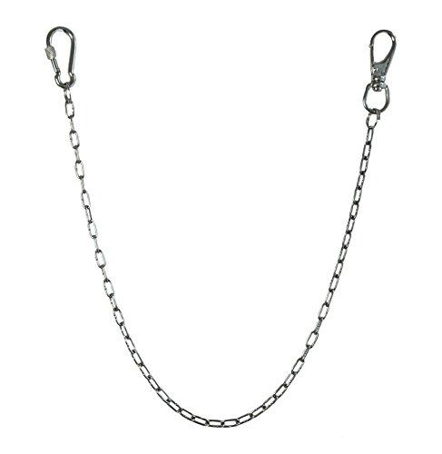 KAMERO Wallet Chain, Edelstahl, einfach, 2mm, 55 cm, Walletchain, Kette für die Geldbörse, Hosenkette, V4A, rostfrei und reißfest (Wallet Drehverschluss)