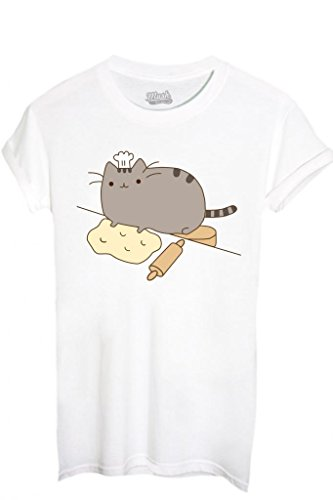 T-SHIRT PUSHEEN IL GATTO 1-FAMOSI by MUSH Dress Your Style - Donna-M-BIANCA