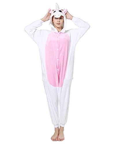 Memoryee Unisex Erwachsene reizende Tier Onesies Pyjamas - Plüsch Kostüm Party Cosplay Cartoon niedlichen Kostüm Idee Homewear Nachtwäsche Overall Kostüm (Kostüm Ideen Cartoons)