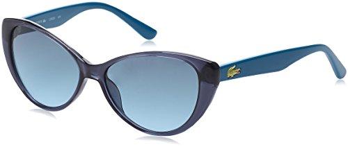 Lacoste butterfly eye occhiali da sole, farfalla, 50, blu