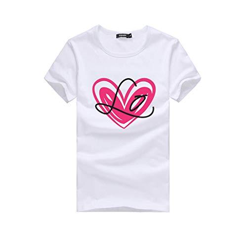 POIUDE Familien Kurzarm Mutter und Kind Lange Ärmel Buchstaben Bluse Tops T-Shirt Familie Kleider Outfits(Weiß2, XXL)