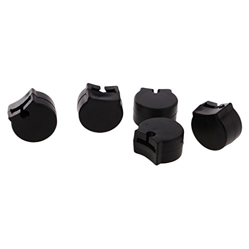 Sharplace 5 Pieces Professional Rubber Thumb Rest Cushion Protector for Clarinet Replacement