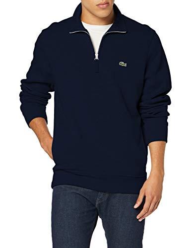 Lacoste Herren Sh8891 Sweatshirt, Blau (Marine 166), Large (Herstellergröße: 5)