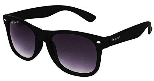 Elegante Non-polarized Wayfarer Men & Women Sunglasses-(WYFMATTBLKGRYGRA 59 Grey)