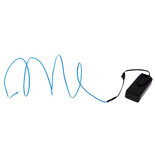Gazechimp Lumineszente Neon-LED-Leuchten-Glühen EL-Draht-Schnur-Streifen Draht Lichtschlauch für Bühne, Weihnachten,Party,Kostüm Rave, Geburtstag, Schuhbänder usw. - Blau 1 (Kostüme Tanz Home)