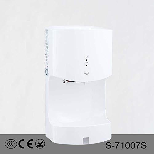 ZTJ-Lighting Händetrockner, Automatische Kommerzielle Händetrockner, 1400 W Hochgeschwindigkeits-Hochleistungs-Wandtrockner for Badezimmer/Toiletten/Toiletten, Weiß, 220 V -