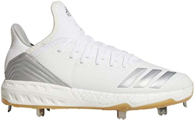 Adidas Icon 4 Cleat Men's Baseball 7.5 bianca-argento Metallic   Trendy    Gentiluomo/Signora Scarpa