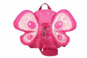 WINSHEA Baby Kind Kleinkind Walking Sicherheitsgeschirr Rucksack Kind Kinder Riemen Schulter Rucksack Tasche mit Zügeln Leine Gürtel (Rose-Butterfly)