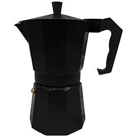Innova Italian Espresso Stove Top Coffee Maker Continental Moka Percolator Pot, 1 Cup, Black