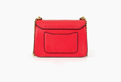 Frauen Echtes Leder Einfarbig Small Square-Paket Einzelne Schulter-Umhängetasche Tasche Gray