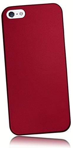 Matt Roter Oberfläche (mumbi Schutzhülle iPhone SE 5 5S Hülle (harte Rückseite) matt rot)