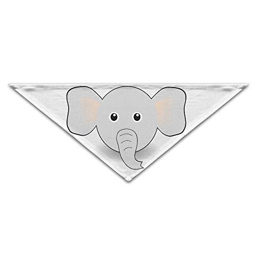 Wfispiy Lovely Elephant Face CartoonDog Birthday Pet Bandana Collars for Dogs and Cats