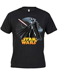 Camiseta Star Wars Darth Vader (Talla: Talla M Unisex Ancho/Largo [53cm/72cm] Aprox], Color: Negro)