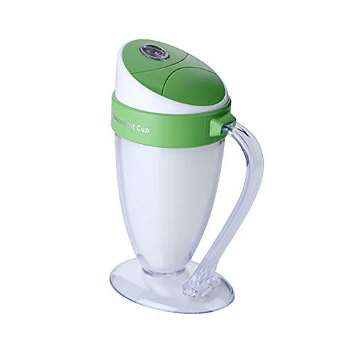 YBCD Purificador de Aire, humidificador de Coche de aromaterapia, difusor de Aceite Esencial de 110 ml, humidificador de Niebla fría de luz Ambiente LED, Apagado automático sin Agua, Apto para