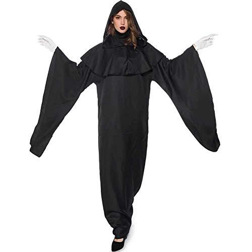 GWNJSSX Scary Hexe Kostüm,Lose Plus Size Halloween Party Cosplay Maskerade Kostüm Beinhaltet Kleid Handschuhe Und - Werwolf Kostüm Plus