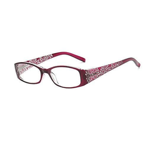 Huicai Retro Drucken lesen Brille Männer und Frauen Mode Lesebrille