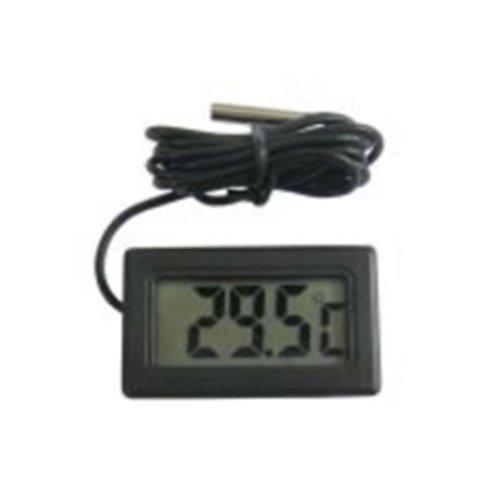 Waymeduo 5x LCD Digital Thermometer Tester für Kühlschrank Aquarium (Schwarz)