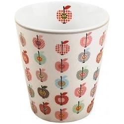 Krasilnikoff - Becher, Tasse - Apple, Apfel, bunte Äpfel - Höhe: 10 cm, Handmade - Porzellan